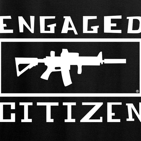 Tactical Walls Ladies Engaged Citizen V-Neck T-Shirts, V-Neck [variant_title] by Ballistic Ink - Made in America USA
