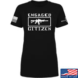 Tactical Walls Ladies Engaged Citizen T-Shirt T-Shirts SMALL / Black by Ballistic Ink - Made in America USA