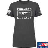 Tactical Walls Ladies Engaged Citizen T-Shirt T-Shirts SMALL / Charcoal by Ballistic Ink - Made in America USA