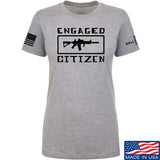 Tactical Walls Ladies Engaged Citizen T-Shirt T-Shirts SMALL / Light Grey by Ballistic Ink - Made in America USA