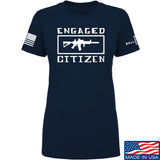 Tactical Walls Ladies Engaged Citizen T-Shirt T-Shirts SMALL / Navy by Ballistic Ink - Made in America USA
