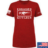 Tactical Walls Ladies Engaged Citizen T-Shirt T-Shirts SMALL / Red by Ballistic Ink - Made in America USA