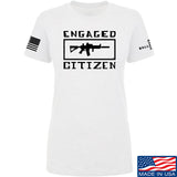 Tactical Walls Ladies Engaged Citizen T-Shirt T-Shirts SMALL / White by Ballistic Ink - Made in America USA