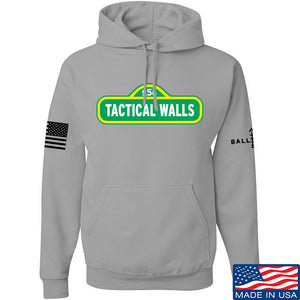 Tactical Walls Tactical Walls In Sesame Street Hoodie Hoodies Small / Light Grey by Ballistic Ink - Made in America USA