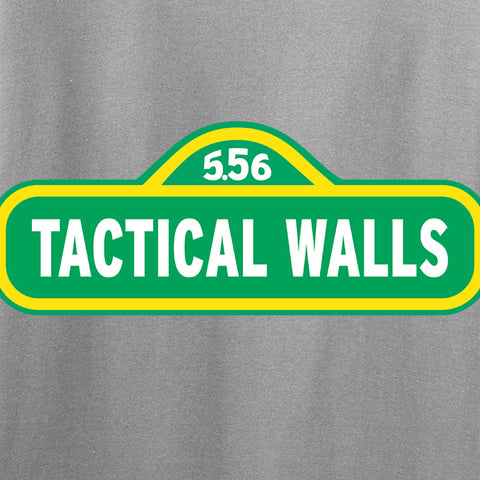 Tactical Walls Tactical Walls In Sesame Street T-Shirt T-Shirts [variant_title] by Ballistic Ink - Made in America USA