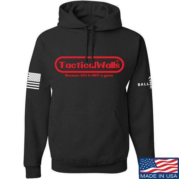 Tactical Walls Tactical Walls Nintendo Hoodie Hoodies Small / Black by Ballistic Ink - Made in America USA