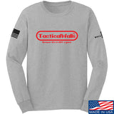 Tactical Walls Tactical Walls Nintendo Long Sleeve T-Shirt Long Sleeve Small / Light Grey by Ballistic Ink - Made in America USA