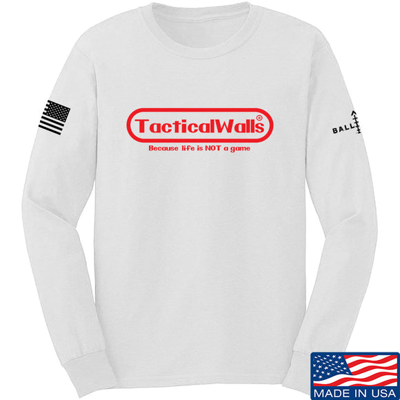 Tactical Walls Tactical Walls Nintendo Long Sleeve T-Shirt Long Sleeve Small / White by Ballistic Ink - Made in America USA
