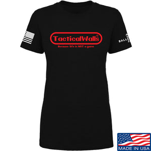 Tactical Walls Ladies Tactical Walls Nintendo T-Shirt T-Shirts SMALL / Black by Ballistic Ink - Made in America USA