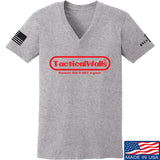 Tactical Walls Ladies Tactical Walls Nintendo V-Neck T-Shirts, V-Neck SMALL / Light Grey by Ballistic Ink - Made in America USA