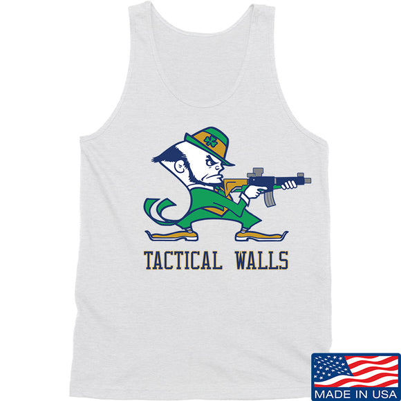 Tactical Walls Tactical Fighting Irish Tank Tanks SMALL / White by Ballistic Ink - Made in America USA