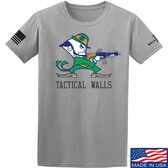 Tactical Walls Tactical Fighting Irish T-Shirt T-Shirts Small / Light Grey by Ballistic Ink - Made in America USA