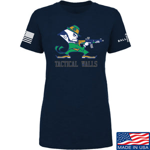 Tactical Walls Ladies Tactical Fighting Irish T-Shirt T-Shirts SMALL / Navy by Ballistic Ink - Made in America USA