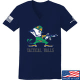 Tactical Walls Ladies Tactical Fighting Irish V-Neck T-Shirts, V-Neck SMALL / Navy by Ballistic Ink - Made in America USA