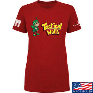Tactical Walls Ladies Tactical Lucky Charm T-Shirt T-Shirts SMALL / Red by Ballistic Ink - Made in America USA