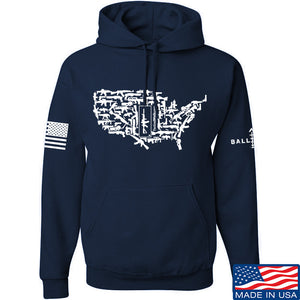 Tactical Walls United States of Awesome Hoodie Hoodies Small / Charcoal by Ballistic Ink - Made in America USA
