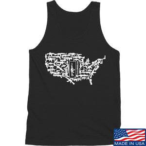 Tactical Walls United States of Awesome Tank Tanks SMALL / Black by Ballistic Ink - Made in America USA
