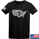 Tactical Walls United States of Awesome T-Shirt T-Shirts Small / Black by Ballistic Ink - Made in America USA