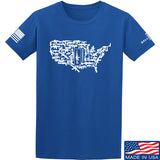 Tactical Walls United States of Awesome T-Shirt T-Shirts Small / Blue by Ballistic Ink - Made in America USA