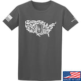 Tactical Walls United States of Awesome T-Shirt T-Shirts Small / Charcoal by Ballistic Ink - Made in America USA