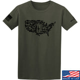 Tactical Walls United States of Awesome T-Shirt T-Shirts Small / Military Green by Ballistic Ink - Made in America USA