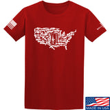 Tactical Walls United States of Awesome T-Shirt T-Shirts Small / Red by Ballistic Ink - Made in America USA