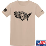 Tactical Walls United States of Awesome T-Shirt T-Shirts Small / Sand by Ballistic Ink - Made in America USA