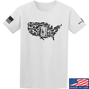Tactical Walls United States of Awesome T-Shirt T-Shirts Small / Navy by Ballistic Ink - Made in America USA