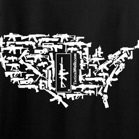 Tactical Walls Ladies United States of Awesome V-Neck T-Shirts, V-Neck [variant_title] by Ballistic Ink - Made in America USA