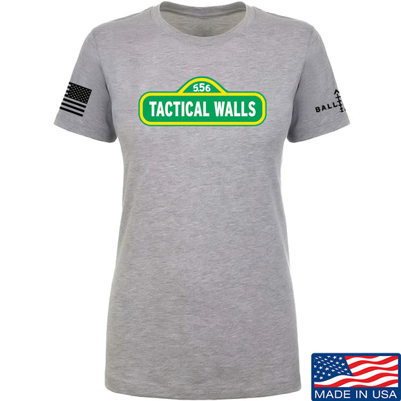 Tactical Walls Ladies Tactical Walls In Sesame Street T-Shirt T-Shirts SMALL / Light Grey by Ballistic Ink - Made in America USA