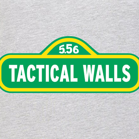 Tactical Walls Ladies Tactical Walls In Sesame Street T-Shirt T-Shirts [variant_title] by Ballistic Ink - Made in America USA