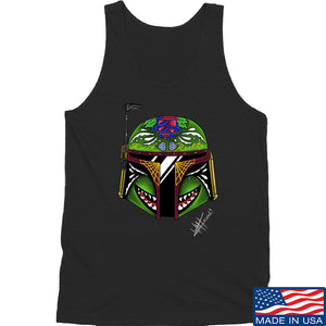 Tattooed n Southern Boba Fett Sugar Skull Tank Tanks SMALL / Navy by Ballistic Ink - Made in America USA