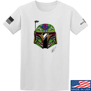 Tattooed n Southern Boba Fett Sugar Skull T-Shirt T-Shirts Small / Charcoal by Ballistic Ink - Made in America USA