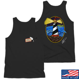 Tattooed n Southern Lighthouse Tank Tanks SMALL / White by Ballistic Ink - Made in America USA