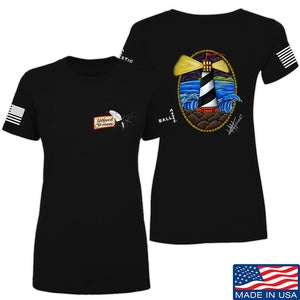 Tattooed n Southern Ladies Lighthouse T-Shirt T-Shirts SMALL / Cream by Ballistic Ink - Made in America USA