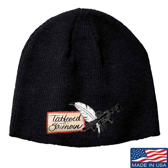 Tattooed n Southern Tattooed n Southern Logo Beanie Headwear Black by Ballistic Ink - Made in America USA