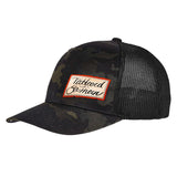 Tattooed n Southern Tattooed n Southern Label Logo Flexfit® Multicam® Trucker Mesh Cap Headwear Black Multicam by Ballistic Ink - Made in America USA