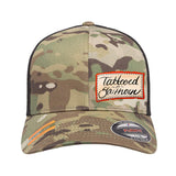 Tattooed n Southern Tattooed n Southern Label Logo Flexfit® Multicam® Trucker Mesh Cap Headwear [variant_title] by Ballistic Ink - Made in America USA
