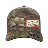 Tattooed n Southern Tattooed n Southern Label Logo Flexfit® Multicam® Trucker Cap Headwear Multicam S/M by Ballistic Ink - Made in America USA