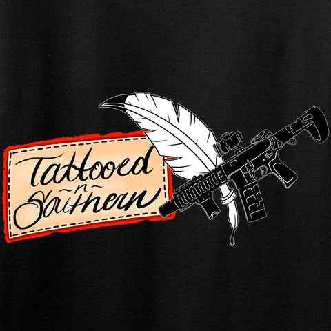 Tattooed n Southern Tattooed n Southern Logo Long Sleeve T-Shirt Long Sleeve [variant_title] by Ballistic Ink - Made in America USA