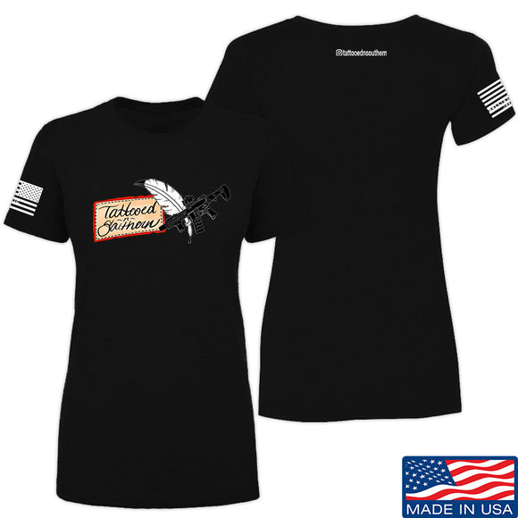 Tattooed n Southern Ladies Tattooed n Southern Logo T-Shirt T-Shirts SMALL / Black by Ballistic Ink - Made in America USA