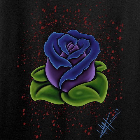 Tattooed n Southern Splattered Rose Tank Tanks [variant_title] by Ballistic Ink - Made in America USA