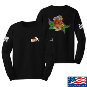 Tattooed n Southern Sticks and Stones Long Sleeve T-Shirt Long Sleeve Small / White by Ballistic Ink - Made in America USA