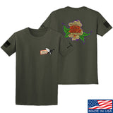 Tattooed n Southern Sticks and Stones T-Shirt T-Shirts Small / Military Green by Ballistic Ink - Made in America USA