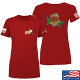 Tattooed n Southern Ladies Sticks and Stones T-Shirt T-Shirts SMALL / Red by Ballistic Ink - Made in America USA