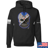 Tattooed n Southern Sugar Skull Hoodie Hoodies Small / Black by Ballistic Ink - Made in America USA