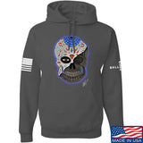 Tattooed n Southern Sugar Skull Hoodie Hoodies Small / Charcoal by Ballistic Ink - Made in America USA