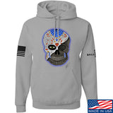 Tattooed n Southern Sugar Skull Hoodie Hoodies Small / Light Grey by Ballistic Ink - Made in America USA