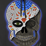 Tattooed n Southern Sugar Skull Hoodie Hoodies [variant_title] by Ballistic Ink - Made in America USA