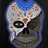 Tattooed n Southern Sugar Skull Long Sleeve T-Shirt Long Sleeve [variant_title] by Ballistic Ink - Made in America USA